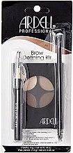 Make-up Set (Make-up Palette 4g + Wimpernbürste + Augenbrauenpinsel) - Ardell Brow Defining Kit — Bild N1