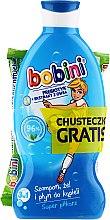 Haarpflegeset - Bobini Kids Set (3in1 Shampoo, Gel und Lotion 330ml + Feuchttücher 15 St.) — Bild N1