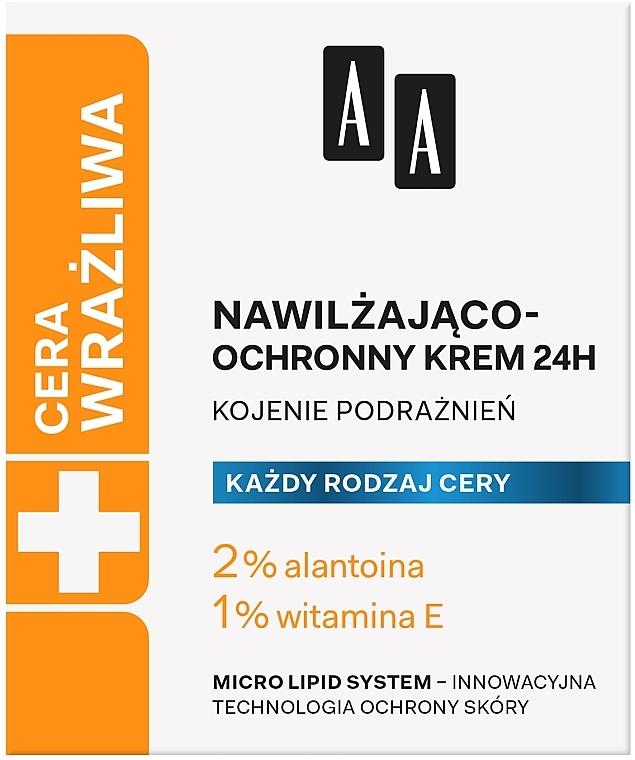 Feuchtigkeitsspendende und schützende Gesichtscreme - AA Technolgia Wieku Cera Wrażliwa Moisturizing-Protective Cream  — Bild N1