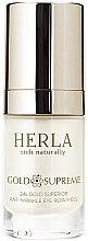 Düfte, Parfümerie und Kosmetik Augengel gegen Falten - Herla Gold Supreme 24K Gold Superior Anti-Wrinkle Eye Repair Gel