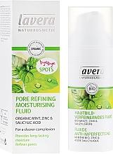Düfte, Parfümerie und Kosmetik Feuchtigkeitsspendendes Gesichtsfluid zur Porenverfeinerung mit Bio-Minze, Zink und Salizylsäure - Lavera Pore Refining Moisturising Fluid