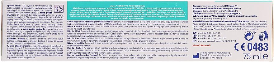 Medizinische Zahnpasta für sofortige und anhaltende Schmerzlinderung bei schmerzempfindlichen Zähnen - Elmex Professional Sensitive Toothpaste — Bild N2