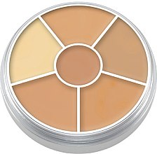 Düfte, Parfümerie und Kosmetik Gesichtsconcealer-Palette mit 6 Farben - Kryolan Concealer Circle