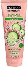 Düfte, Parfümerie und Kosmetik Tonerde Gesichtsmaske mit Gurke und Rosensalz - Freeman Feeling Beautiful Rejuvenating Cucumber + Pink Salt Clay Mask