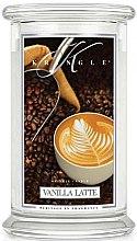 Düfte, Parfümerie und Kosmetik Duftkerze im Glas Vanilla Latte - Kringle Candle Vanilla Latte