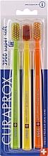 Düfte, Parfümerie und Kosmetik Zahnbürsten-Set gelb, orange, hellgrün 3 St. - Curaprox Super Soft