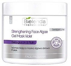 Düfte, Parfümerie und Kosmetik Stärkende Algengelmaske mit Beta-Glucan, Rutin und Vitamin C - Bielenda Professional Program Face Strengthening Face Algae Gel Mask Violet
