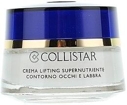 Düfte, Parfümerie und Kosmetik Supernährende Gesichtscreme für Augen und Lippen - Collistar Supernourishing Lifting Cream Eye and Lip