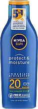 Feuchtigkeitsspendende Sonnenschutzlotion SPF 20 - Nivea Sun Protect & Moisture Sun Lotion SPF20 — Bild N3