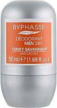 Düfte, Parfümerie und Kosmetik Deo Roll-on Antitranspirant - Byphasse 24h Men Deodorant Funky Savannah