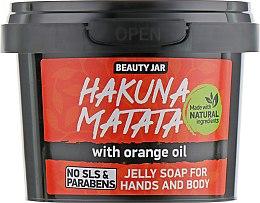 Düfte, Parfümerie und Kosmetik Gelee Seife Hakuna Matata mit Orangenöl - Beauty Jar Jelly Soap For Hands And Body