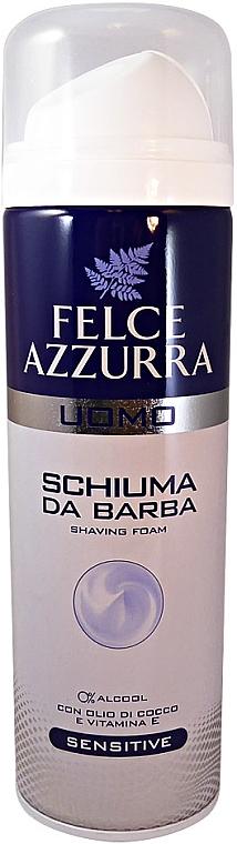 Rasierschaum mit Kokosnussöl und Vitamin E - Felce Azzurra Men Sensitive Shaving Foam