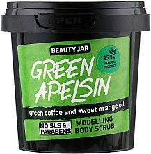Düfte, Parfümerie und Kosmetik Modellierendes Körperpeeling Green Apelsin mit Kaffee und Orangenöl - Beauty Jar Modelling Body Scrub