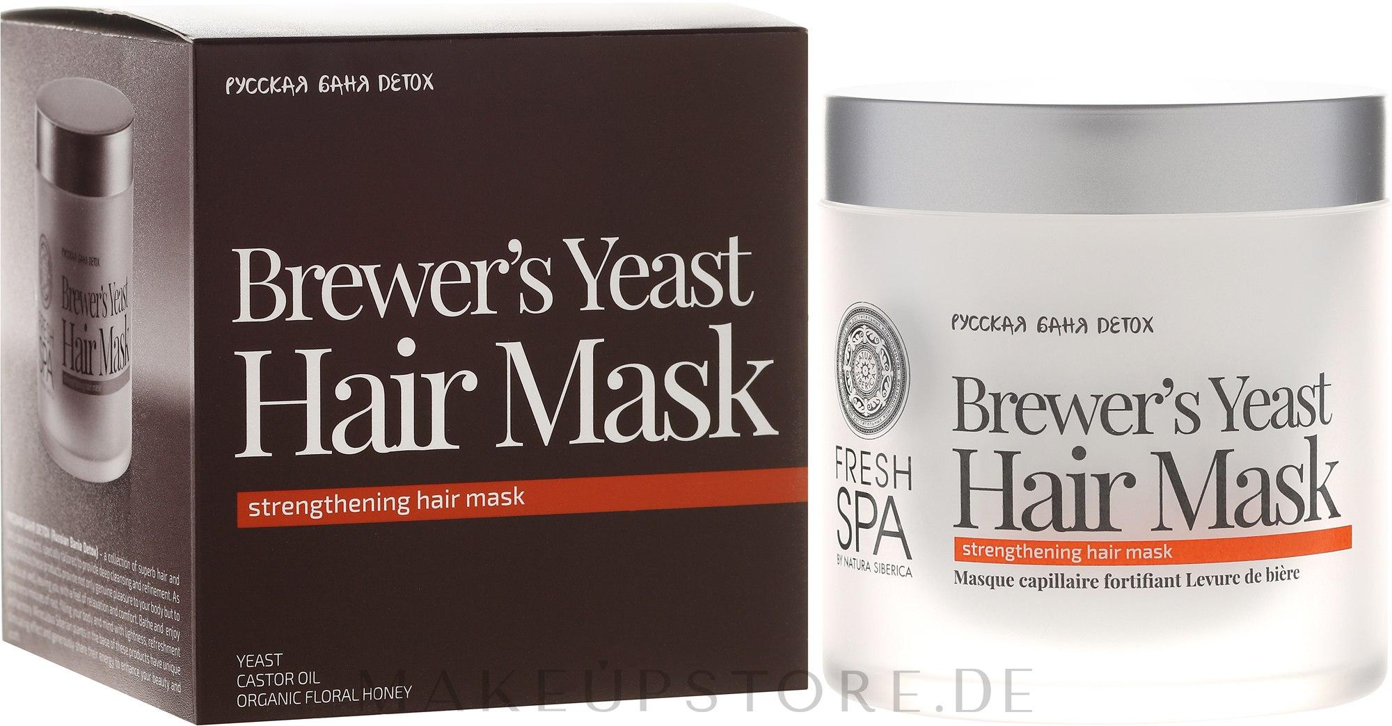 Kräftigende Hefemaske für schwaches und strapaziertes Haar - Natura Siberica Fresh Spa Russkaja Bania Detox Brewers Yeast Hair Mask — Bild 400 ml