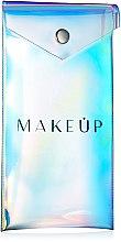 Düfte, Parfümerie und Kosmetik Kosmetiktasche für Stifte Holographic transparent 18x9 cm - MakeUp