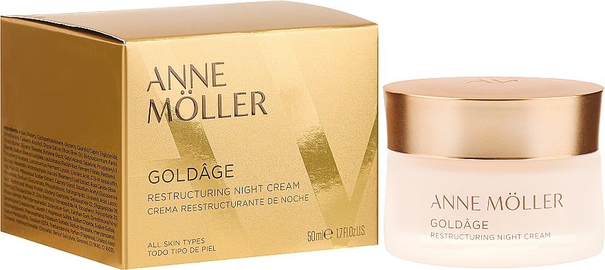 Reparierende und pflegende Nachtcreme - Anne Moller Goldage Restructuring Night Cream — Bild N1