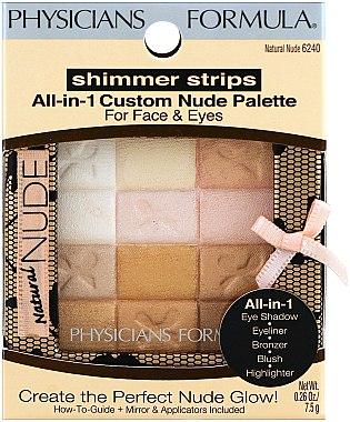 Make-up Set - Physicians Formula Shimmer Strips All-In-1 Custom Nude Palette For Face & Eyes — Bild N1