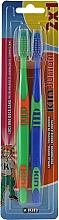 Düfte, Parfümerie und Kosmetik Kinderzahnbürsten, grün + blau - Kin Junior Toothbrush Pack