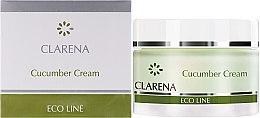 Düfte, Parfümerie und Kosmetik Antibakterielle, feuchtigkeitsspendende und aufhellende Gesichtscreme für fettige Haut mit Gurkenextrakt - Clarena Eco Line Cucumber Cream