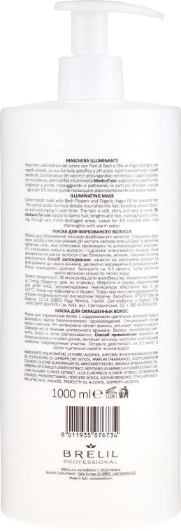 Maske für coloriertes Haar mit Bach-Blüten und Arganöl - Brelil Bio Treatment Colour Illuminating Mask — Bild N2