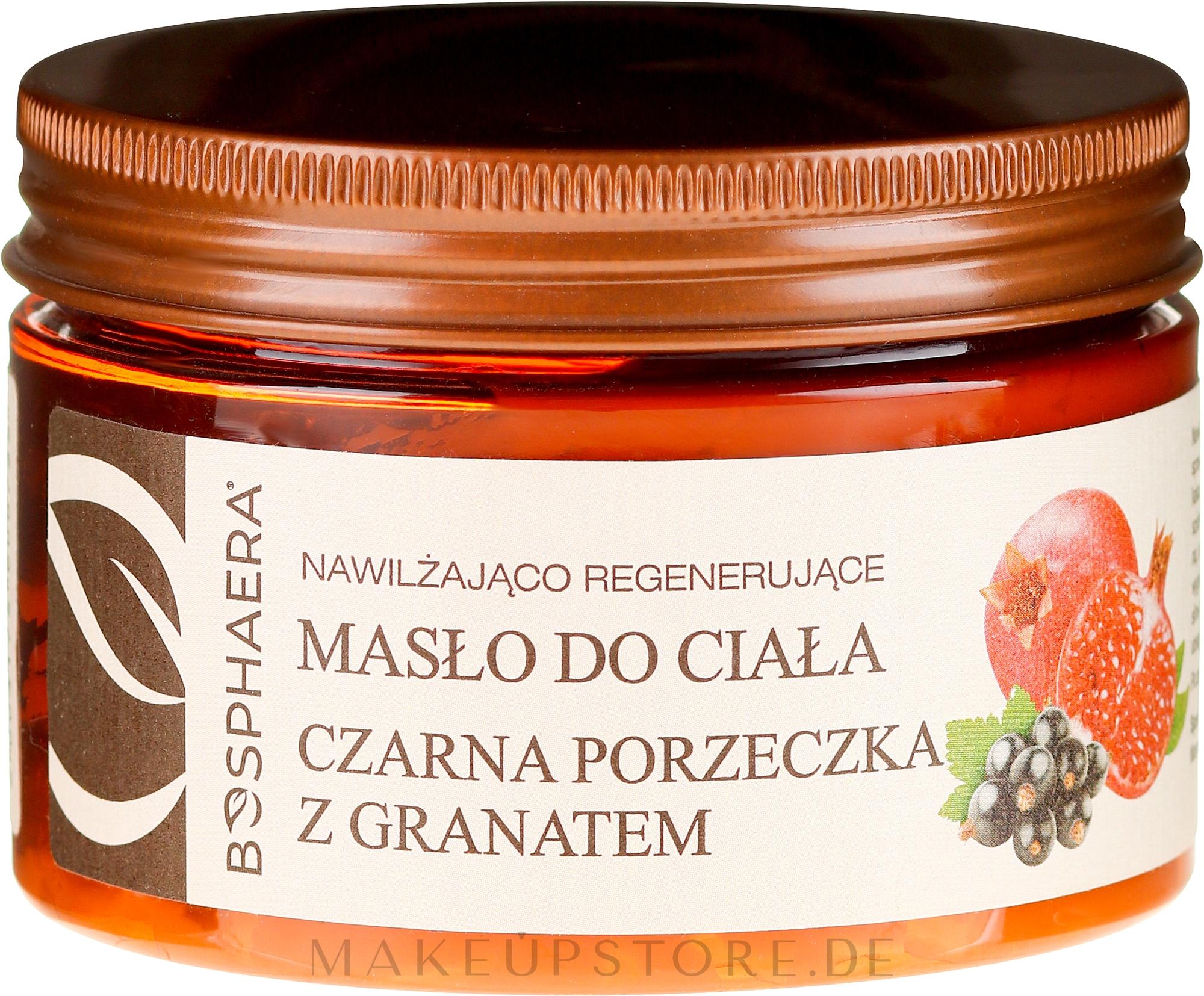 Körperbutter mit schwarzen Johannisbeeren und Granatapfel - Bosphaera — Bild 200 g