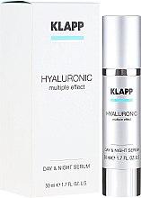 Düfte, Parfümerie und Kosmetik Aufpolsterndes Pflegeserum mit Hyaluronsäure und Quicklift - Klapp Hyaluronic Multiple Effect Day & Night Serum