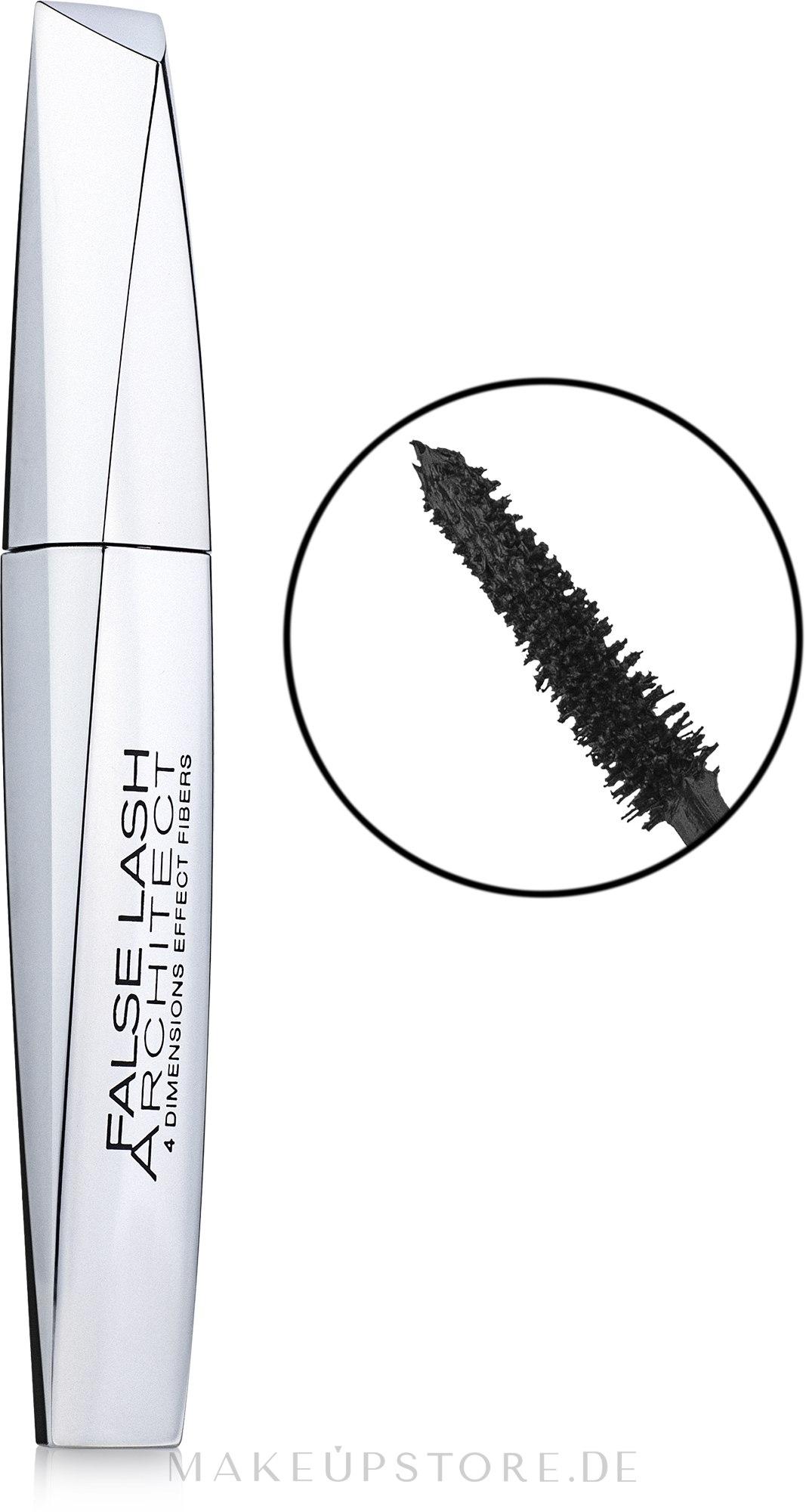 Wimperntusche für mehr Länge und Volumen - L'Oreal Paris Lash Architect 4D — Bild Black