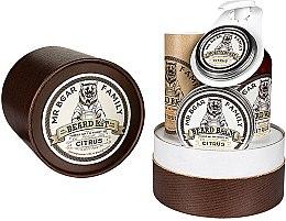 Düfte, Parfümerie und Kosmetik Bartpflege Set - Mr. Bear Family Citrus (Bartöl 30ml + Bartshampoo 250ml + Schnurrbartwachs 30ml + Bartbalsam 60ml)
