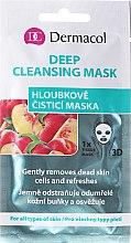 Düfte, Parfümerie und Kosmetik Reinigende Tuchmaske mit Pfirsichextrakt - Dermacol 3D Deep Cleansing Mask