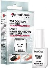 Düfte, Parfümerie und Kosmetik Top Nagellack mit Matt-Effekt - Dermofuture Precision Top Coat Matt