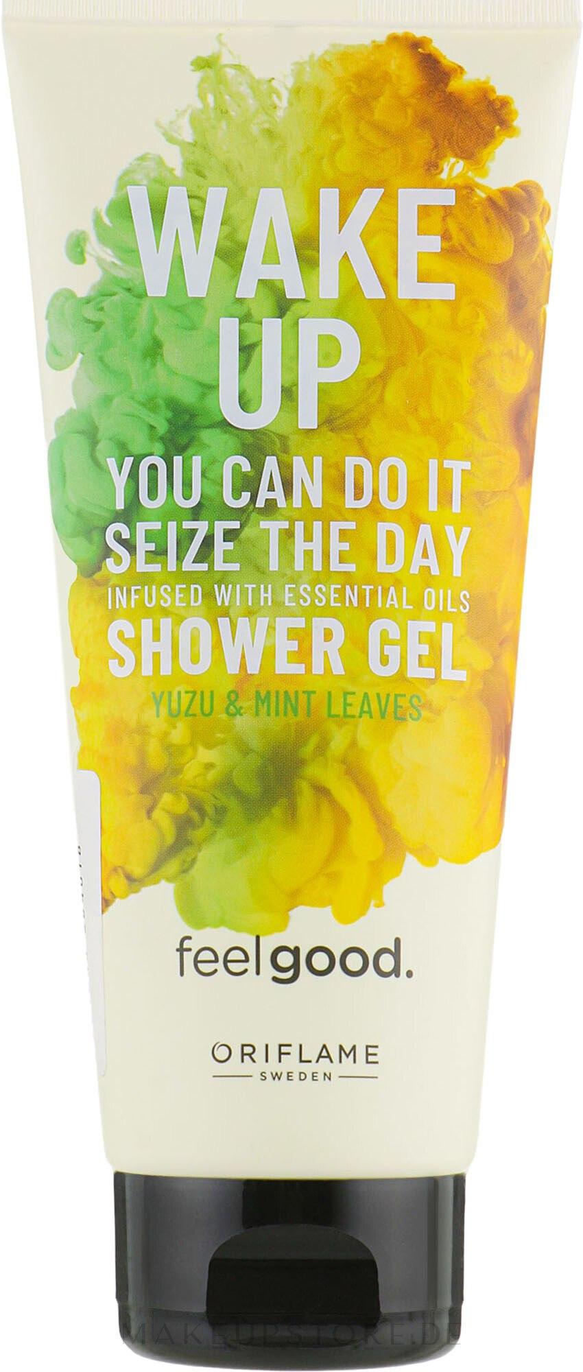 Erfrischendes Duschgel mit Yuzu und Minze - Oriflame Feel Good Wake Up Shower Gel — Bild 200 ml