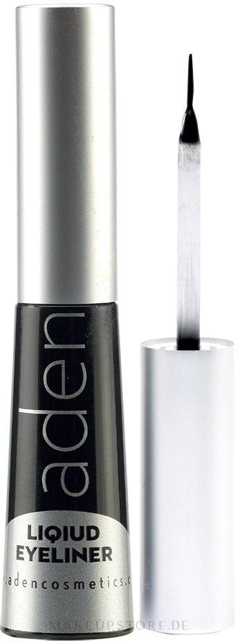 Wasserdichter Eyeliner - Aden Cosmetics Liquid Eyeliner — Bild Black