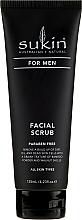 Düfte, Parfümerie und Kosmetik Revitalisierendes Gesichtspeeling für Männer mit Bambuspulver und Sesam- und Jojobaöl - Sukin For Men Facial Scrub