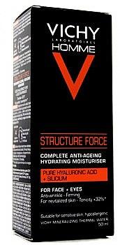 Fechtigkeitsspendende Make-up Base - Vichy Homme Structure Force Complete Anti-ageing Hydrating Moisturiser — Bild N1