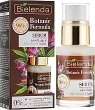 Düfte, Parfümerie und Kosmetik Feuchtigkeitsspendendes Gesichtsserum mit Hanföl und Safran - Bielenda Botanic Formula Hemp Oil + Saffron Moisturizing Serum