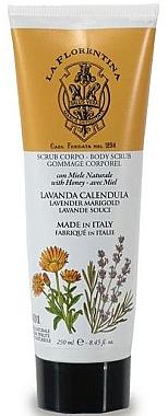 Honig Körperpeeling mit Lavendel und Tagetes - La Florentina Body Scrub Lavender & Marigold — Bild N1