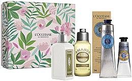Düfte, Parfümerie und Kosmetik Körperpflegeset - L'Occitane (Körpermilch 70ml + Duschöl 75ml + Handcreme 75ml + Fußcreme 10ml)