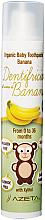 Düfte, Parfümerie und Kosmetik Zahnpasta für Kinder mit Bananengeschmack - Azeta Bio Organic Tooth Paste Banana