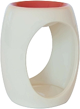 Düfte, Parfümerie und Kosmetik Keramik-Aromalampe weiß-orange - Airpure