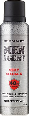 """Deospray Antitranspirant """"Sexy Sixpack"""" - Dermacol Men Agent Sexy Sixpack 48H Protection Anti-Perspirant — Bild N1"""