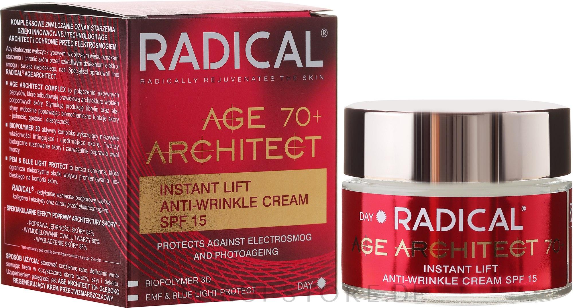 Straffende Anti-Falten Gesichtscrme 70+ - Farmona Radical Age Architect Cream 70+ SPF 15 — Bild 50 ml