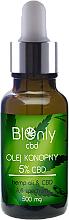 Düfte, Parfümerie und Kosmetik Hanfsamenöl mit 5% Cannabidiol - BIOnly