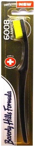 Zahnbürste weich 6008 Filaments schwarz-gelb - Beverly Hills Formula 6008 Filament Multi-Colour Toothbrush — Bild N1