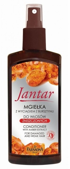 Haarspülung Spray mit Bernsteinextrakt ohne Ausspülen für beschädigtes und schwaches Haar - Farmona Jantar Conditioner Whith Amber Extract