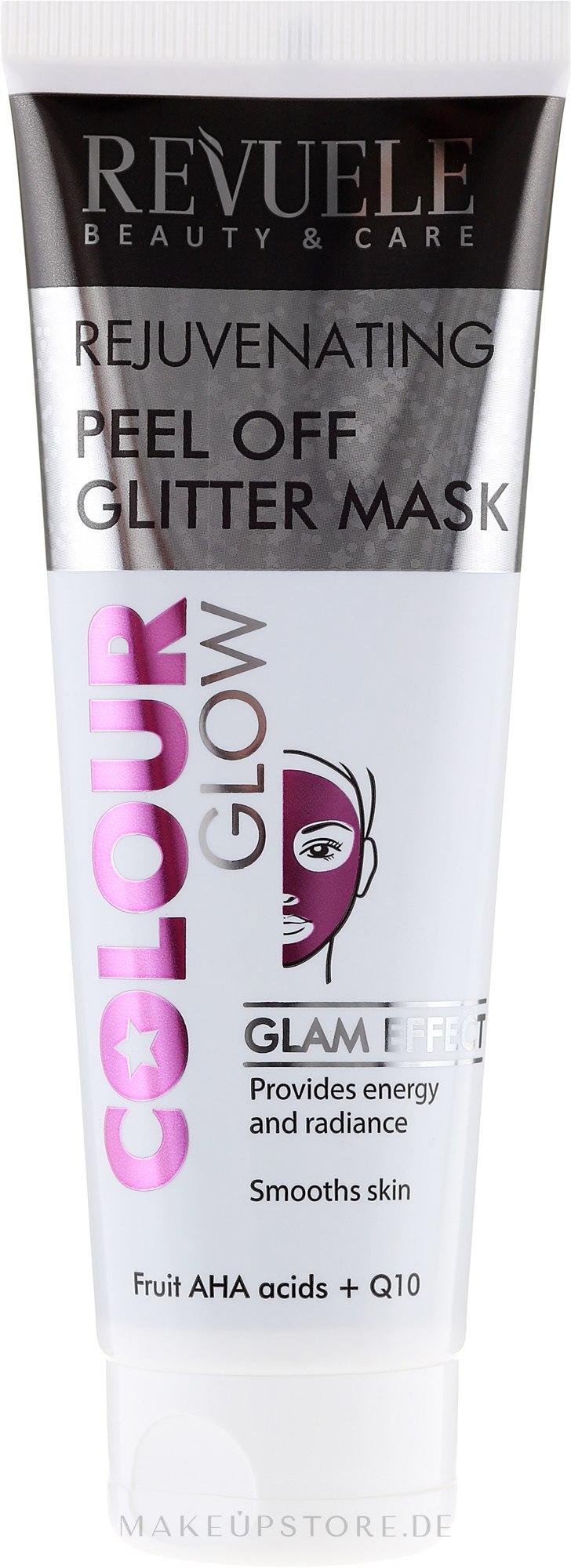 Verjüngende Peel-Off Gesichtsmaske mit Q10 - Revuele Color Glow Glitter Mask Pell-Off Rejuvenating — Bild 80 ml