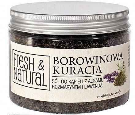 Badesalz mit Algen, Rosmarin und Lavendel zur Schlammbehandlung - Fresh & Natural — Bild N1