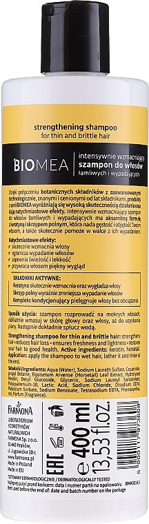 Intensiv stärkendes Shampoo für sprödes und zu Haarausfall neigendes Haar - Farmona Biomea Strengthening Shampoo — Bild N2