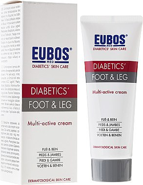 Multiactive Fuß- und Beincreme - Eubos Med Diabetic Skin Care Foot & Leg — Bild N1