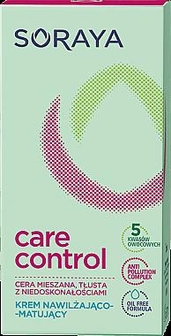 Feuchtigkeitsspendende und mattierende Gesichtscreme - Soraya Care Control — Bild N2