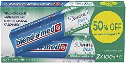Düfte, Parfümerie und Kosmetik Zahnpasta 3D White Fresh Extreme Mint Kiss 2 St. - Blend-a-med 3D White Fresh Extreme Mint Kiss (Zahnpasta 2x100ml)